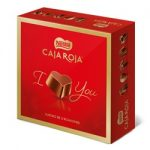 Bombones chocolate caja roja