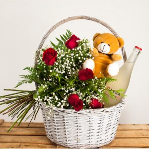 Cesta de flores dulzona