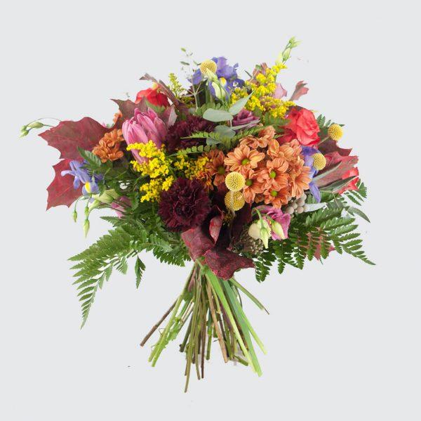 Ramo de flores en tonos ocres para enviar a domicilio en Toledo.
