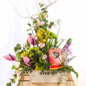 Bella composición de flores para el Día de la Madre a domicilio en Toledo