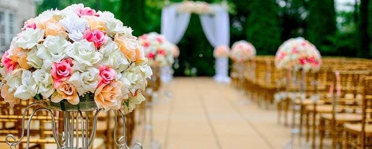 Centros de flores para iglesia