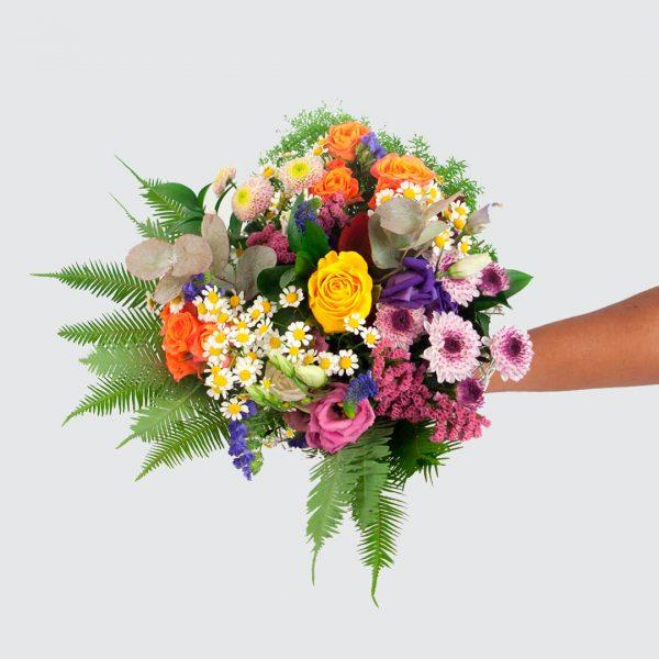 Detalle del Ramo de flores alegría a domicilio en Toledo.