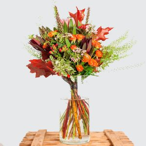 Ramo de flores de otoño en Toledo.