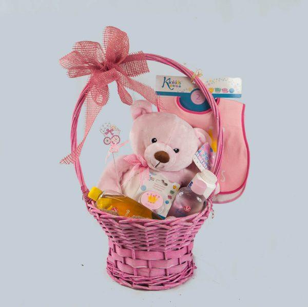 cesta de regalo para nacimientos para enviar a hospital o a domicilio en Toledo